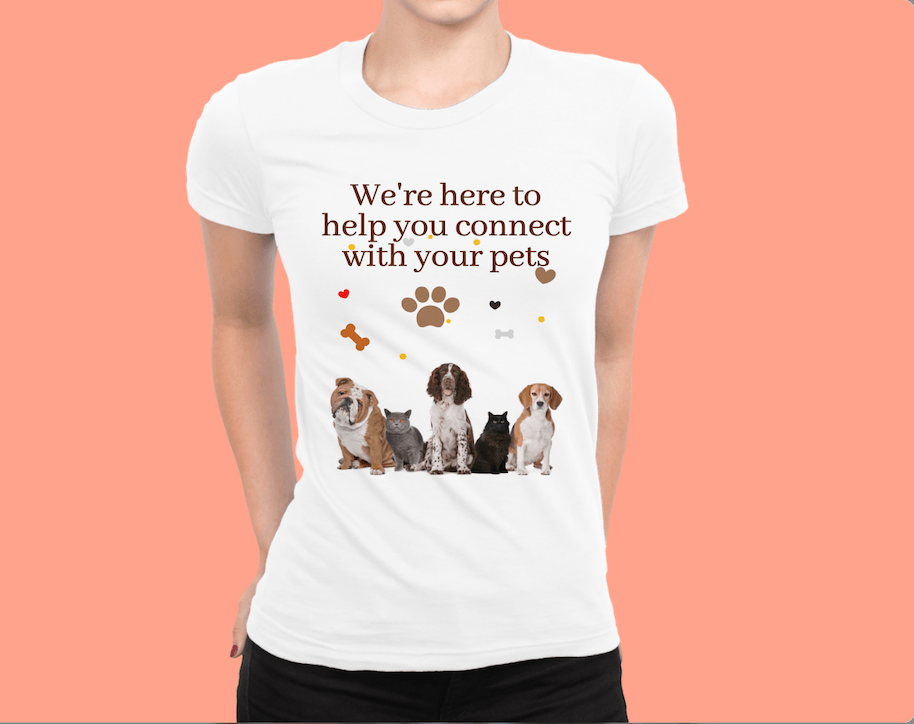 About-Pet-Connection-Tshirt - Here-to-help-you-connect-with-your-pets